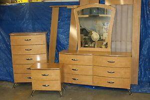 Ashley Furniture Spectra King Size Bedroom Set Dresser Nightstand Headboard