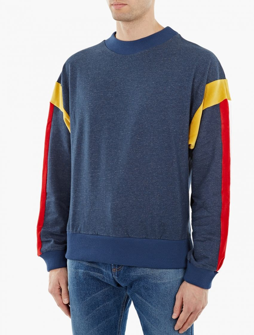 finest selection 0f805 c876d Gosha Rubchinskiy   Blue Oversized Sweatshirt   This distinctive sweatshirt  from Gosha Rubchinskiy s SS16 collection is crafted from premium cotton and  cut ...