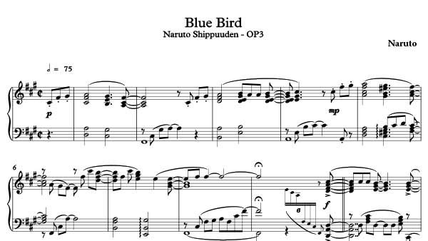 Blue Bird Sheet Music Naruto Download Blue Bird Piano Sheet Music