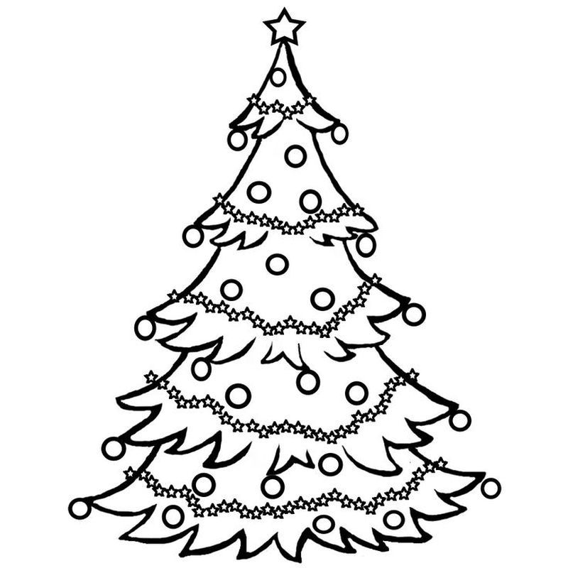 Christmas Tree Colouring Pages Twinkl Pohon Natal Natal Pohon