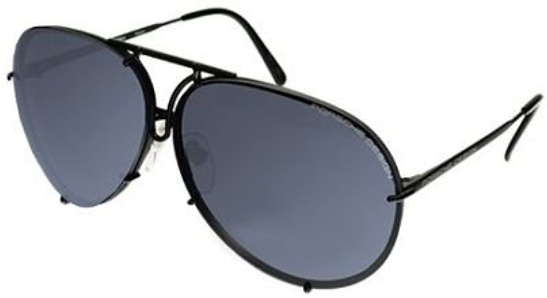 2d669338c599c Amazon.com  PORSCHE DESIGN P8478 D Aviator Sunglasses Black Matte Frame  Size 69 + Extra Lens  Jewelry