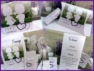 Hochzeitskarten Mit Bild In Lila Und Flieder Hochzeit Pinterest