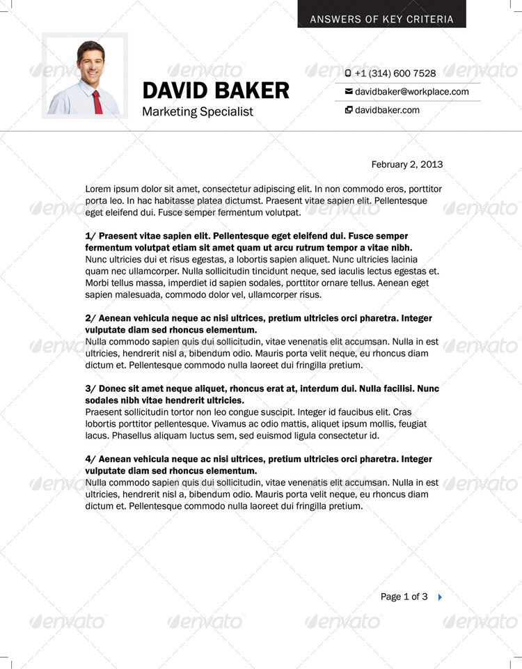 Resume Cover Letter A4 and US Letter Sizes Ad Cover,