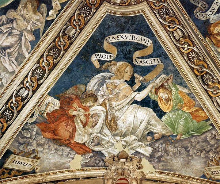 Filippino Lippi - Sibilla di Delfi - affresco - 1488-1493 - volta Cappella Carafa, Basilica di Santa Maria sopra Minerva, Roma