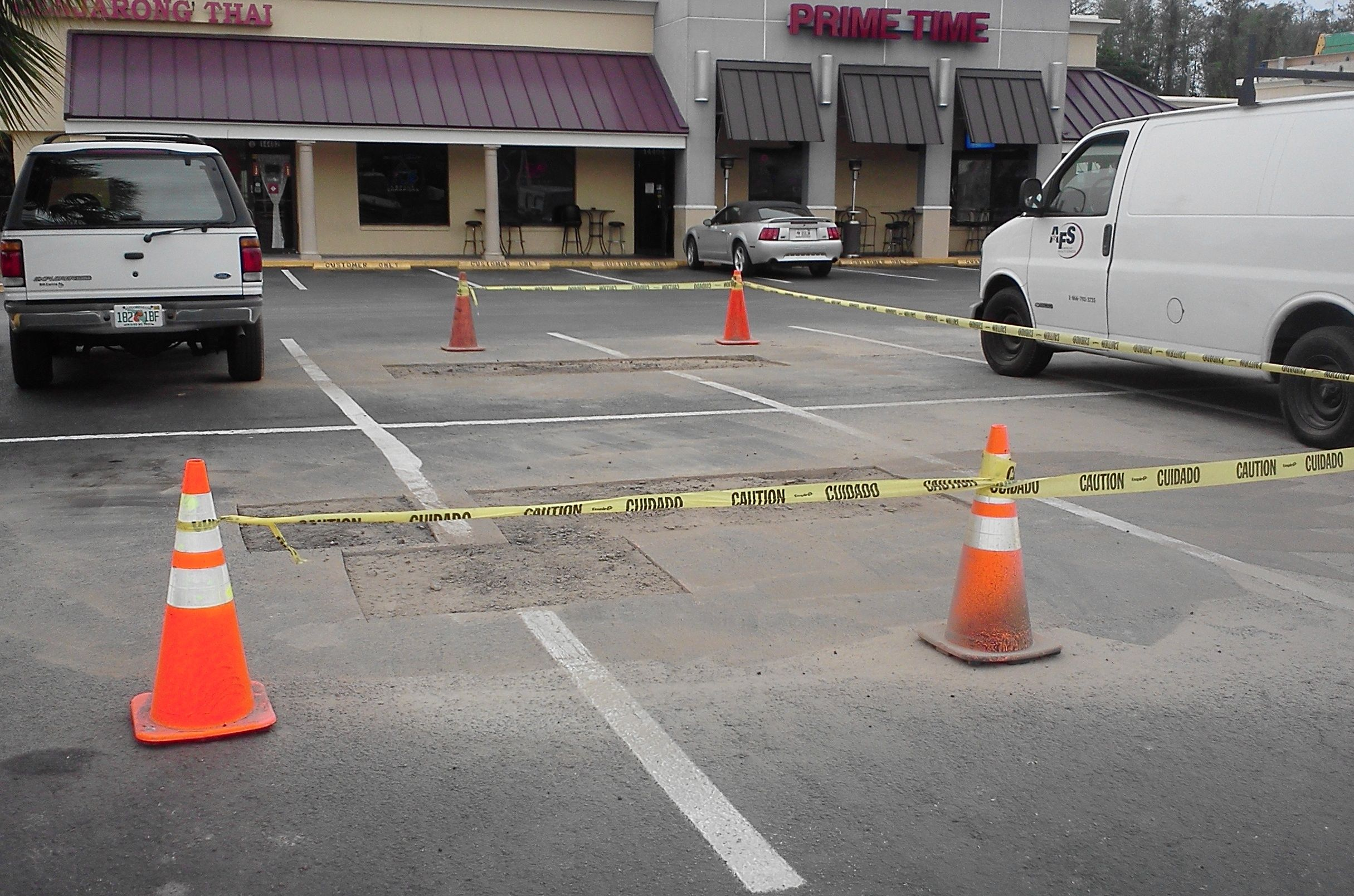 Pothole Repairs Cut And Patch Job Paving And Sealcoating Asphalt Repair Asphalt Pavement Pavement
