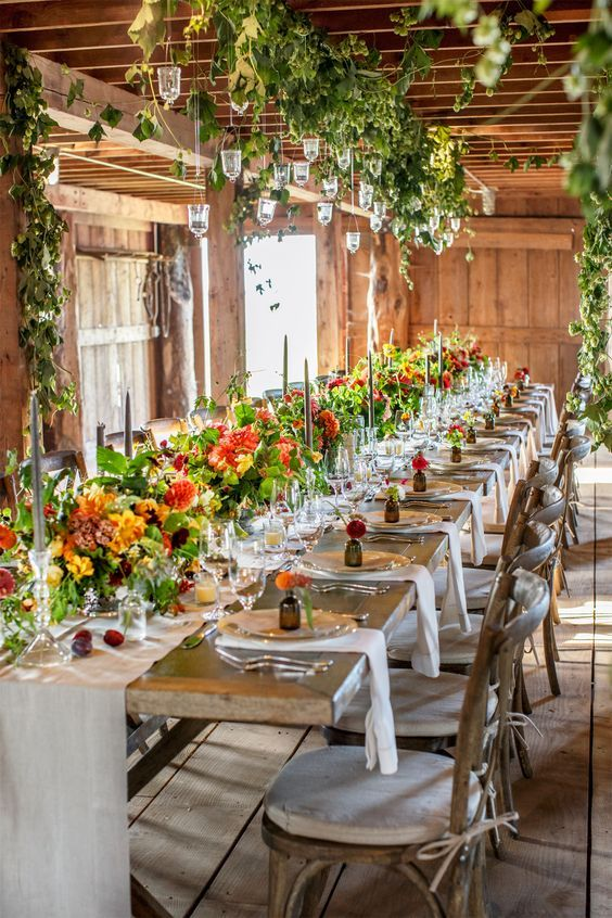 Image Result For Fl Arrangements On Farm Table