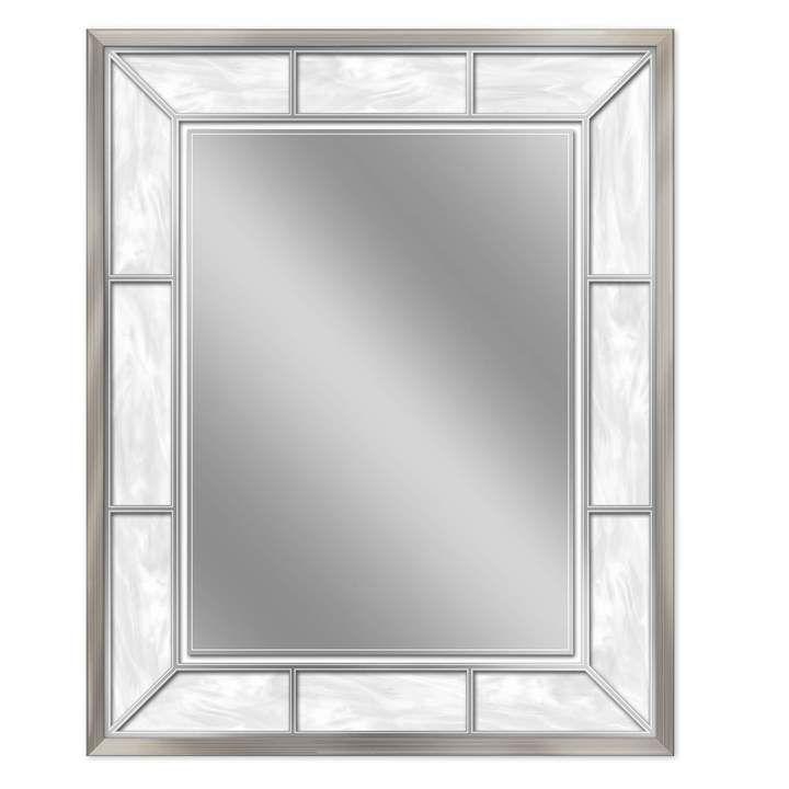 Head West Brushed Nickel Finish Wall Mirror | Mirror wall ...