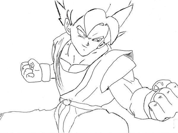 super saiyan goku coloring pages - Goku Printable Coloring Pages