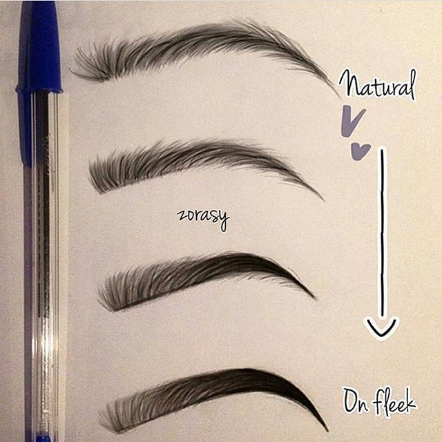 Natural only and always on fleek is the equivalent to a for Drawing eyebrows on paper