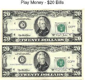 picture regarding Printable Play Money Sheets known as Printable Engage in Income Sheets 61813 TRENDIR