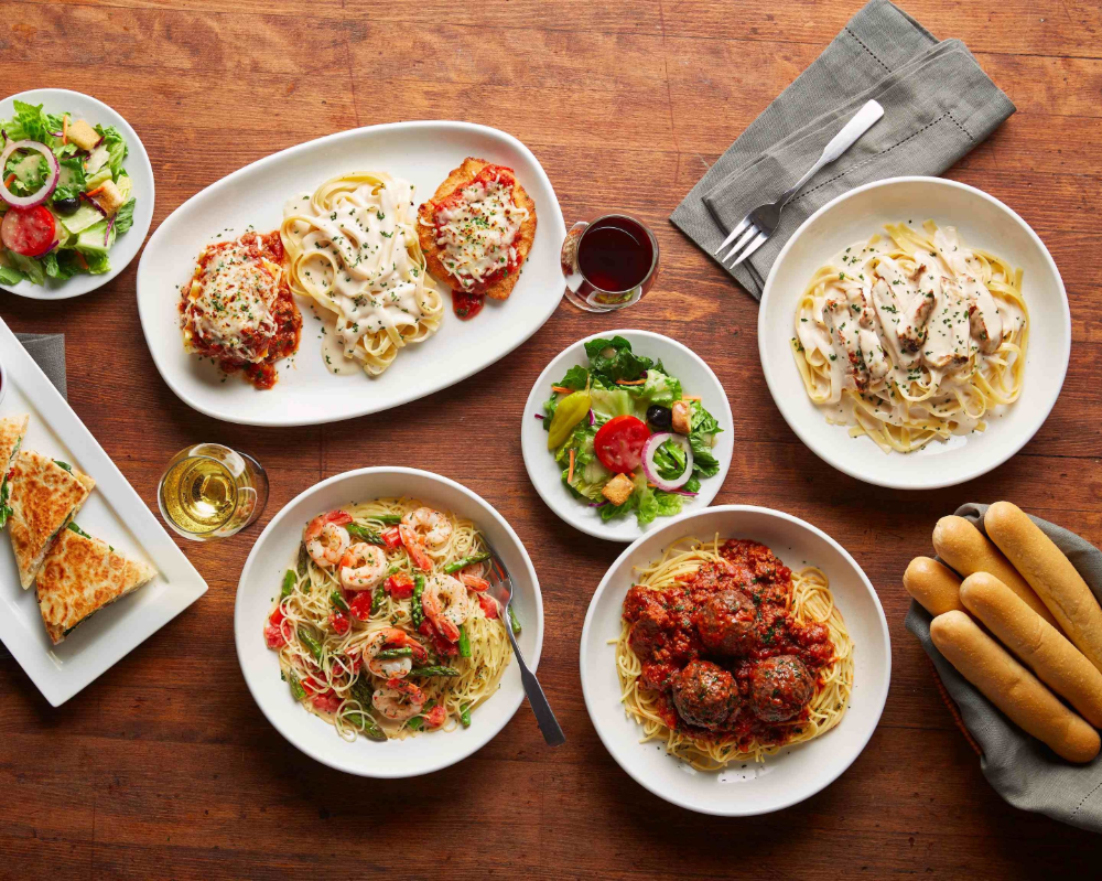 Use your Uber account to order delivery from Olive Garden