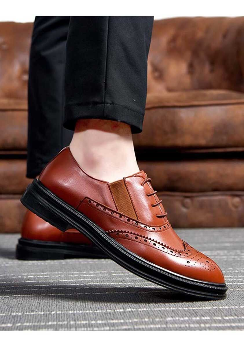 Brown brogue leather oxford dress shoe 1951 in 2020
