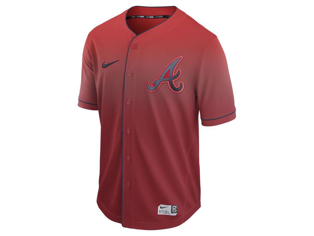 Atlanta Braves Nike Mlb Men S Fade Jersey Braves Apparel Nike Clothes Mens Atlanta Braves