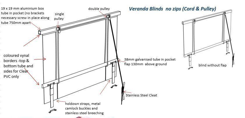 Online Blinds Cord Pulley Clear Cafe Mesh Veranda Blinds