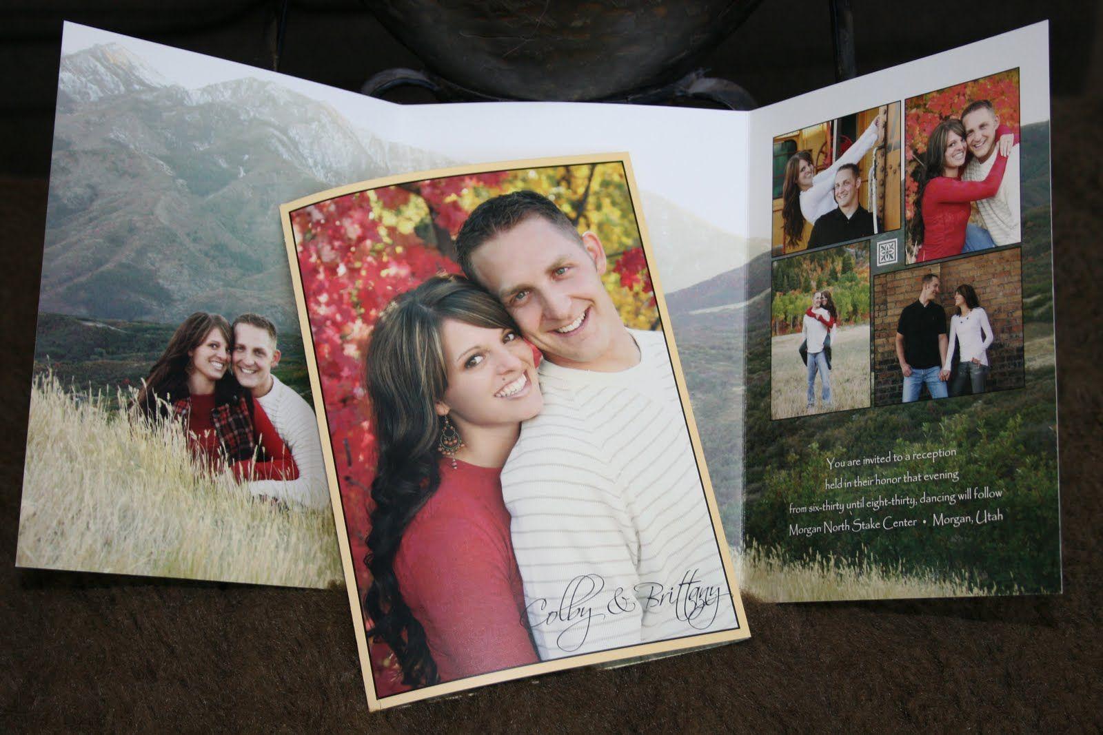 Diy wedding decorations photo album fall wedding invitations ideas
