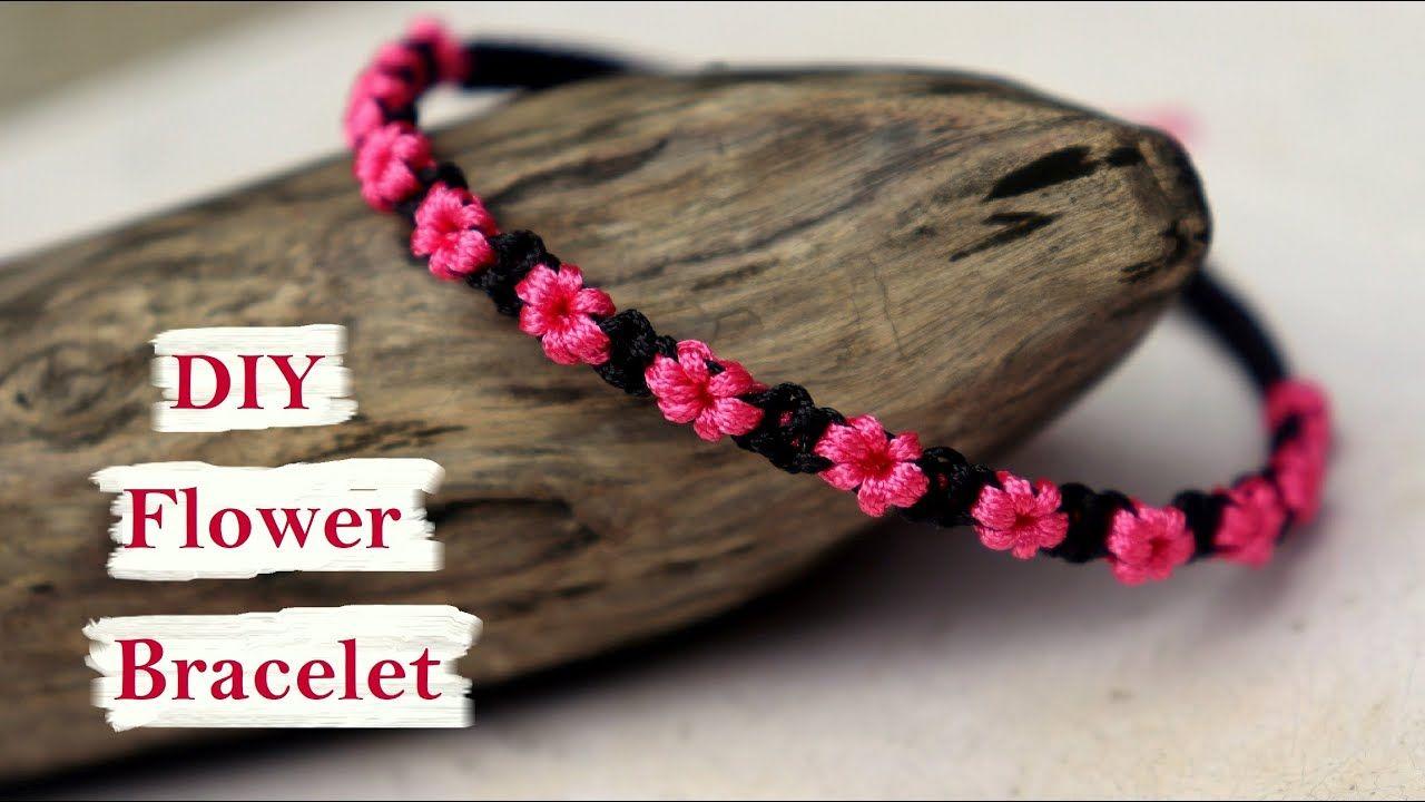 Handmade flower bracelet ideas how to make macrame