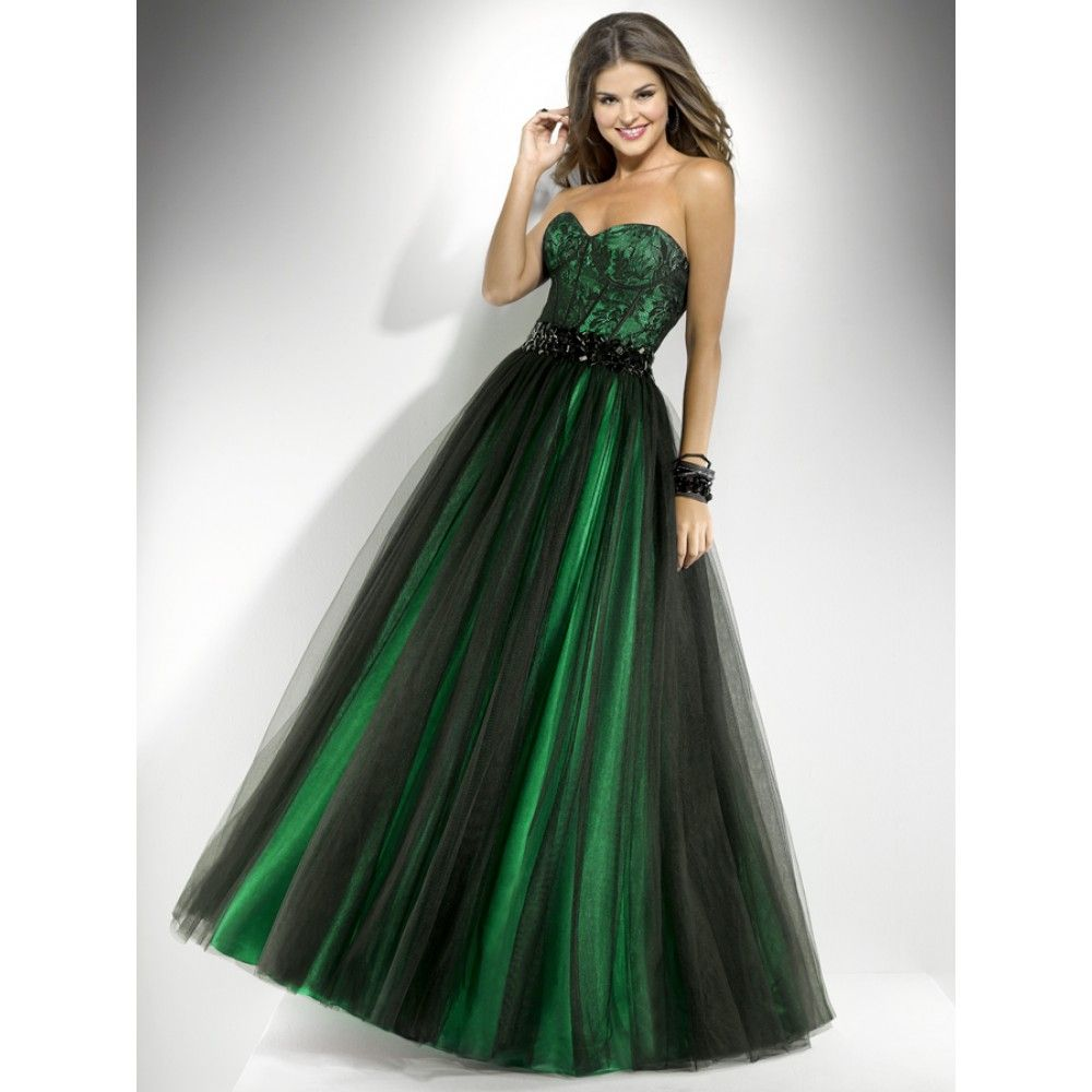 Long Green Dresses