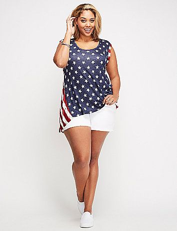 b83a4f2f12c8d This stars   stripes graphic tank lets your patriotic side shine (in  comfort). lanebryant.com