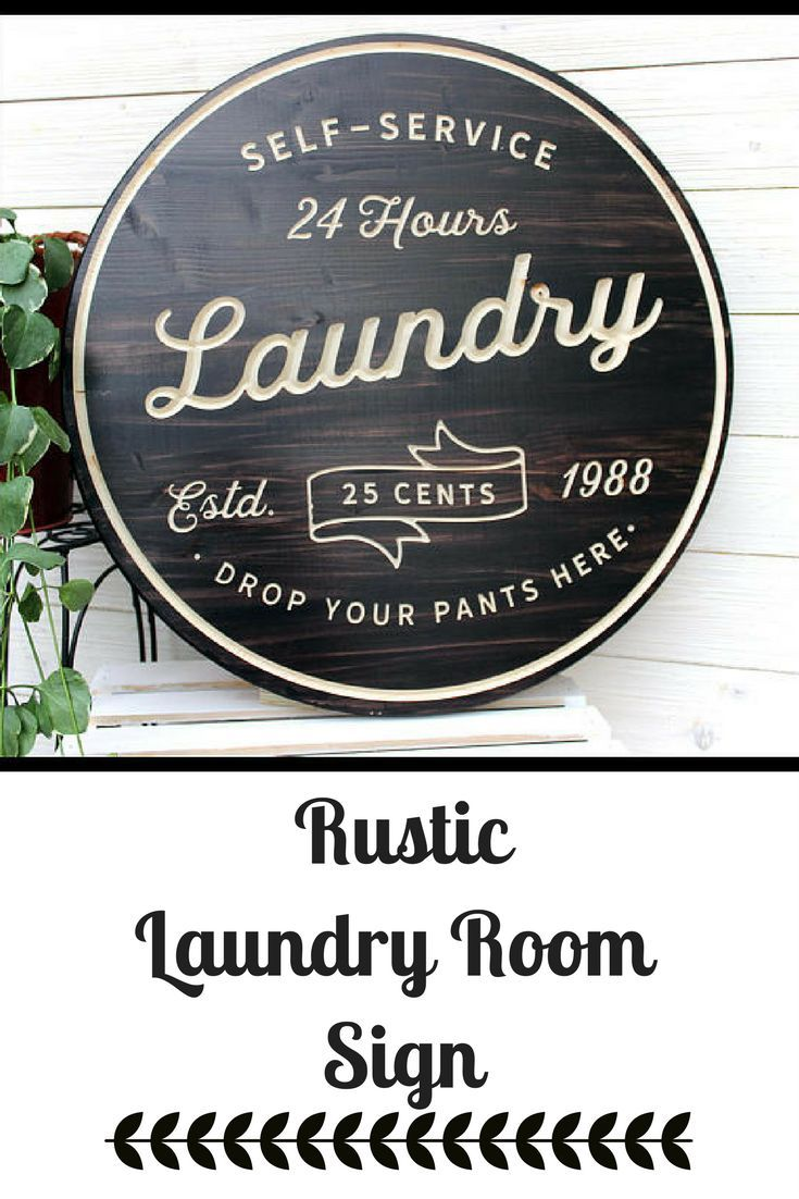 Perfect rustic farmhouse laundry room sign with lots of