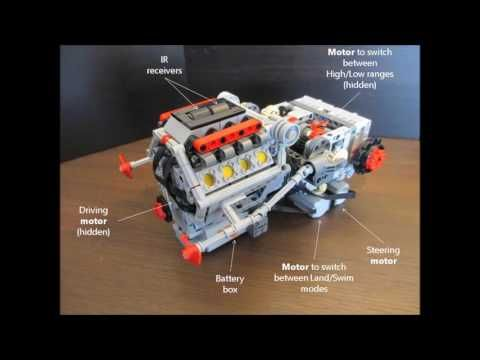 Lego Technic Tracked Vehicle Transmission With Engine