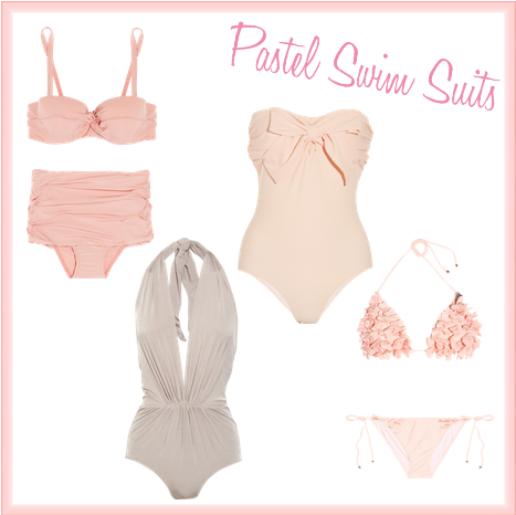 Friday's Fancies - Pastels (Swim Suits)