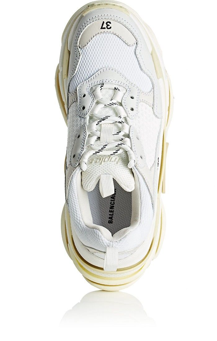 eb441ee62 Balenciaga Women's Triple S Leather & Mesh Sneakers - 10   shoes ...