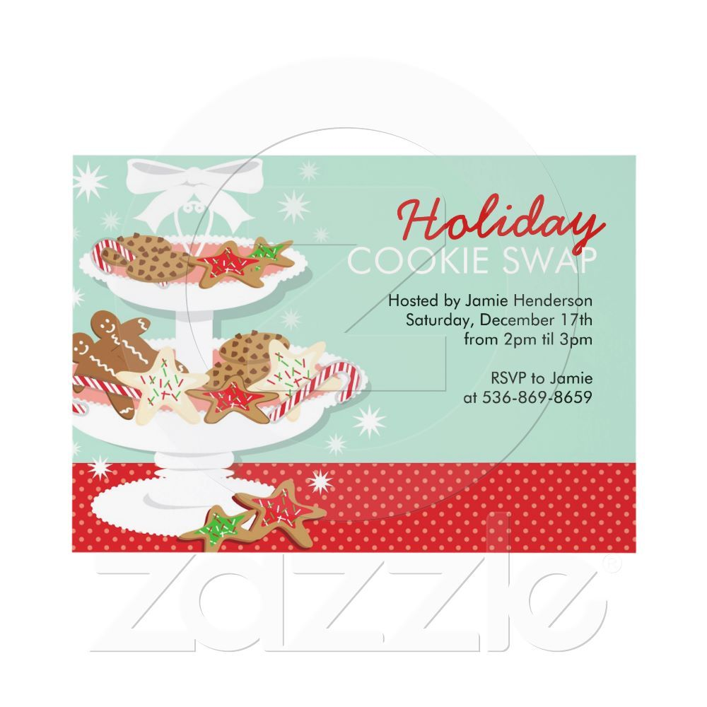 Christmas Party Invitations Cookie Swap | Cookie swap, Cookie ...
