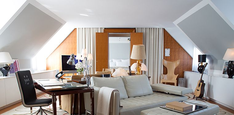 Stay In The Superb Penthouse Suite At Le Royal Monceau Hotel. On The Top  Floor Of The Prestigious Hotel, This Luxury Suite Enjoys Its Own Private  Entrance.