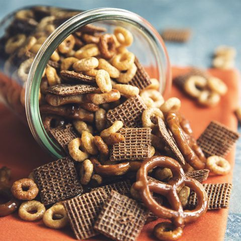 Step aside Bits and Bites! This homemade snack mix is all the rage right now. With herbacious infused olive oils customized with all of your favourite treats what's not to love?