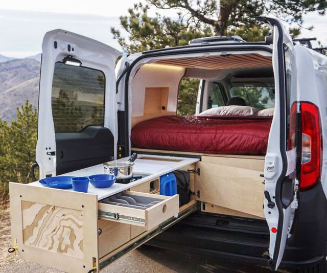 Contra Camper Van Conversion Kit En 2020 Caravanes De Camping Conversion Van Kangoo Amenage