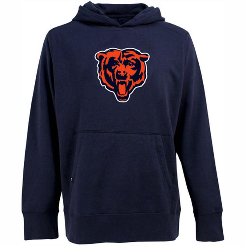 Antigua Chicago Bears Signature Pullover Hoodie - Navy Blue  262bd353f5e