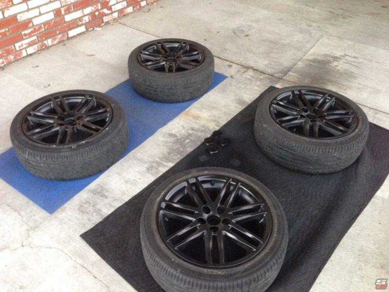 Diy How To Paint Your Stock Wheels Gloss Black Scionlife Com Wheel Gloss Black Black