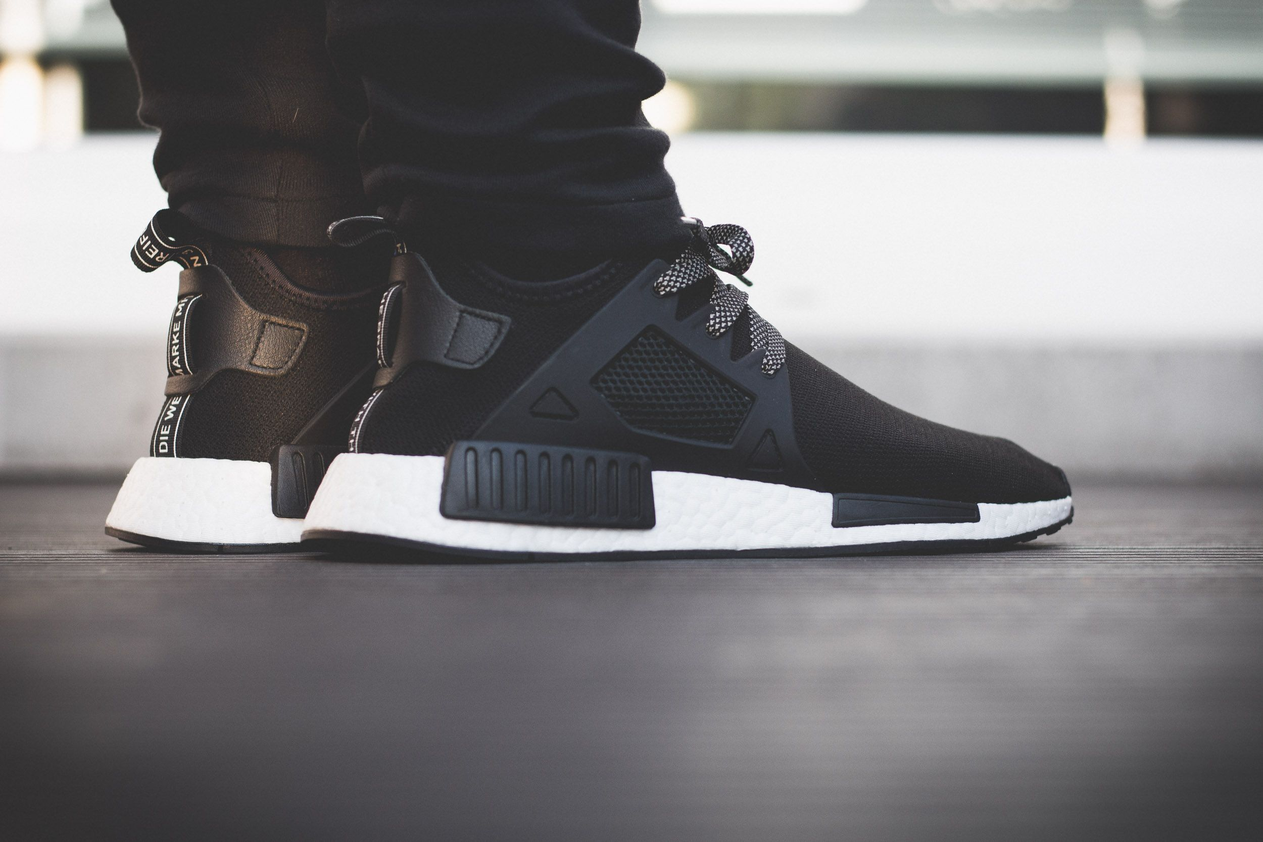 1640d3cf1395 adidas NMD XR1 – Black   White On Feet