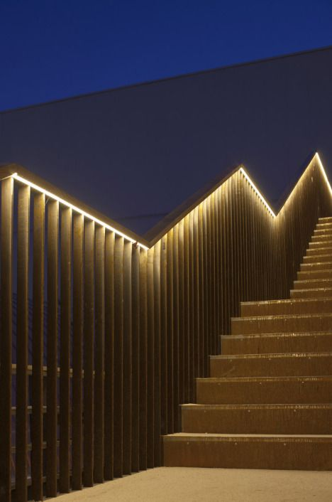 The British Pavilion Milan Expo 2015 By Bdp Stair Lighting Exterior Stairs Outdoor Lighting