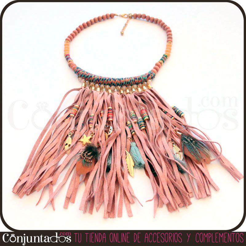 ¿No te parece fabuloso nuestro #collar Cherokee de estilo indio? Ilumina con su suave colorido cualquier cosa que te pongas. Combina con multitud de tonos y da un toque único a looks de todo tipo. ¡Hazte con uno antes de que se agoten, que los flecos siguen arrasando! Precio: 19.95 € en http://www.conjuntados.com/collar-cherokee-de-estilo-indio.html #novedades #moda #fashion #accesorios #complementos #estilo #style #bisuteria #jewelry #collar #collaretnico #etnico #necklaces #flecos…