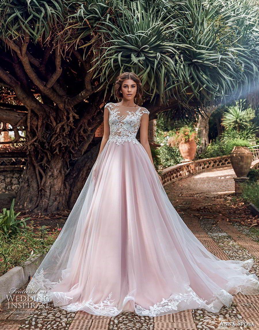 Anna Sposa 2019 Wedding Dresses Bella Sicilia Bridal Collection Wedding Inspirasi Pink Wedding Dresses A Line Bridal Gowns Backless Wedding [ 1146 x 900 Pixel ]