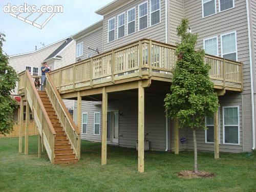 High Elevation Deck Picture Gallery Deck Layout Deck Stairs Deck Designs Backyard