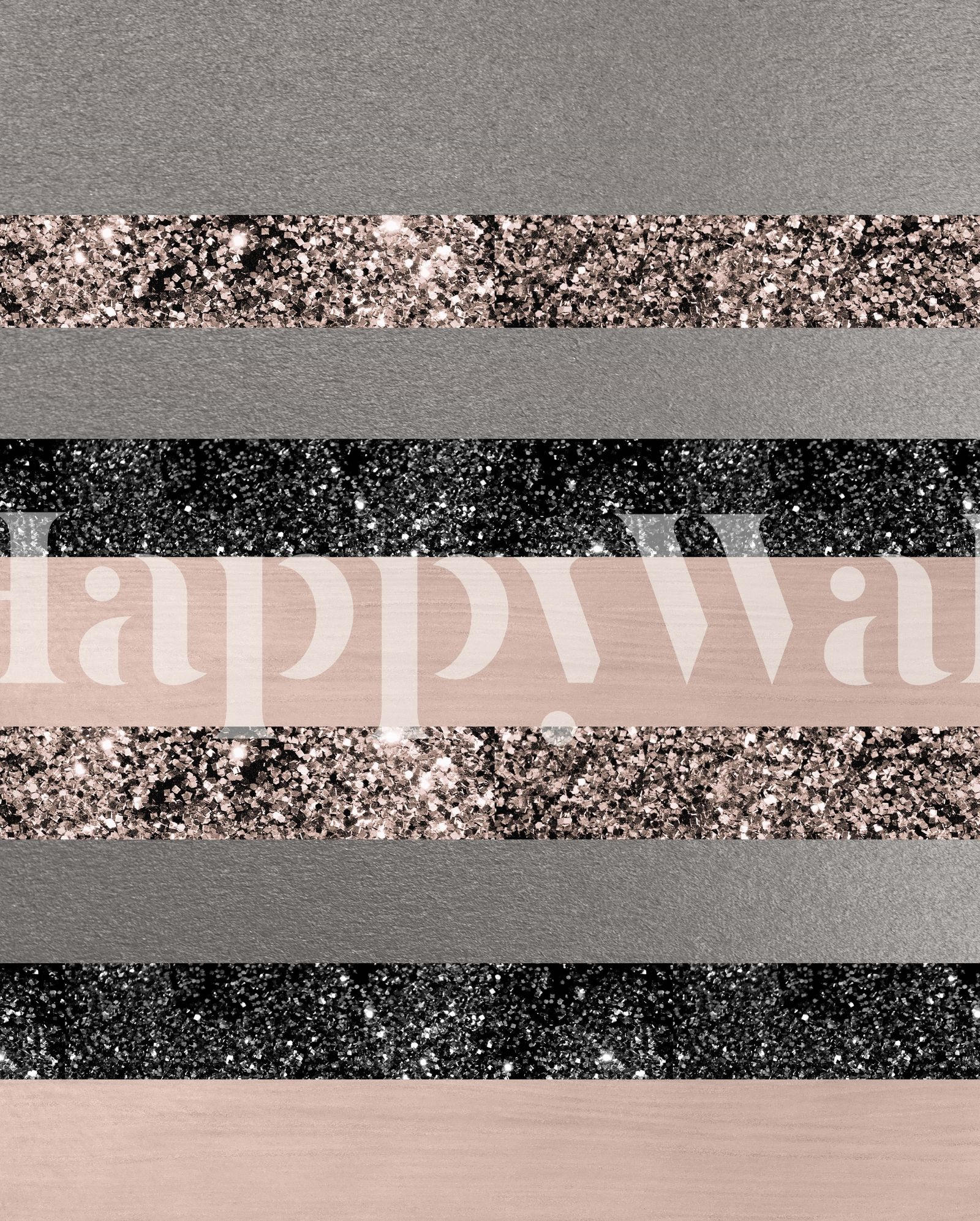 Blush Glitter Glam Stripes 1 Wall Mural / Wallpaper Abstract in 2019