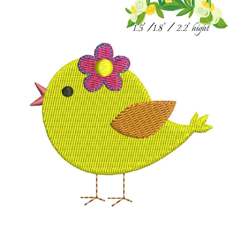 Mini Bird Machine Embroidery Design Designs Kids Instant Digital
