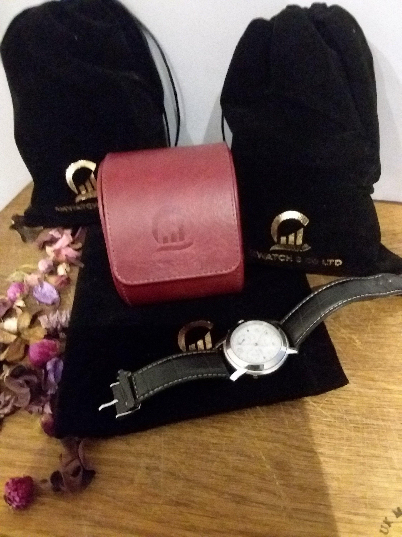 AHW Travel Storage Watch Case for 1 slot watch handmade in