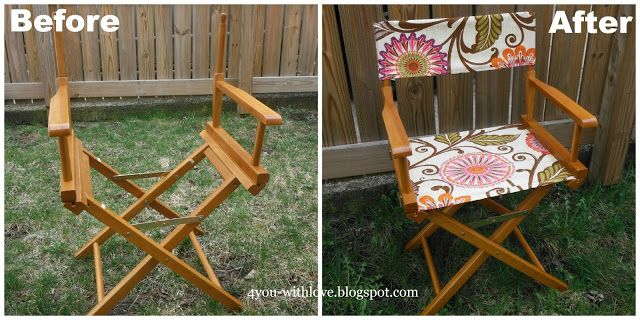 Step By Step Instructions To Make Your Own Director S Chair Canvas This Post Is Written For Creating The Canv Diy Chair Painting Furniture Diy Directors Chair