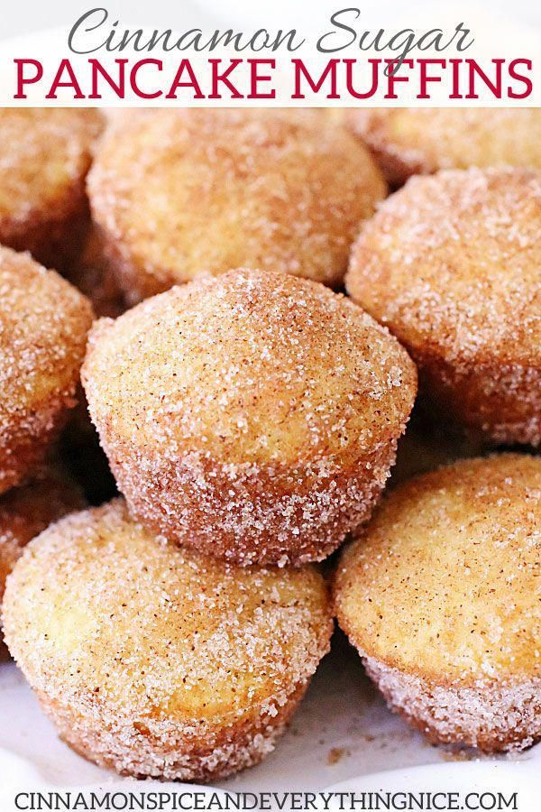 Cinnamon Sugar Mini Pancake Muffins | Cinnamon Spi