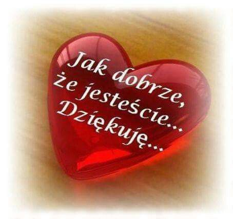 Dziekuje Greetings Thankful Love