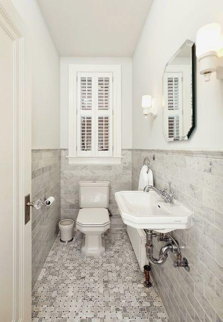Small Narrow Half Bathroom Google Search Small Narrow