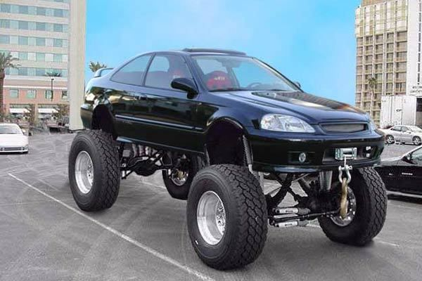 Lifted Honda Civic