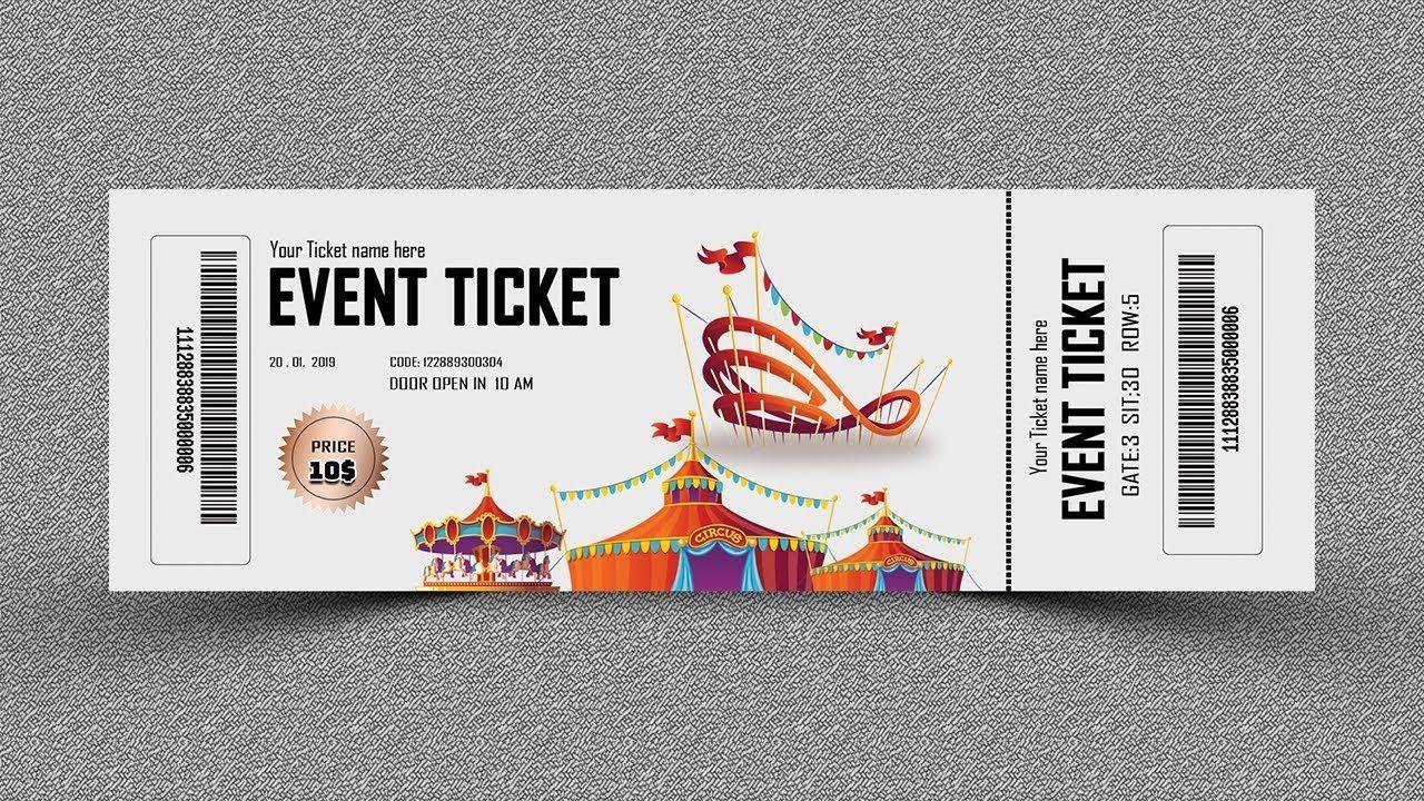 Event Ticket Design Photoshop Tutorial Event Tickets Design Ticket Design Ticket Design Template