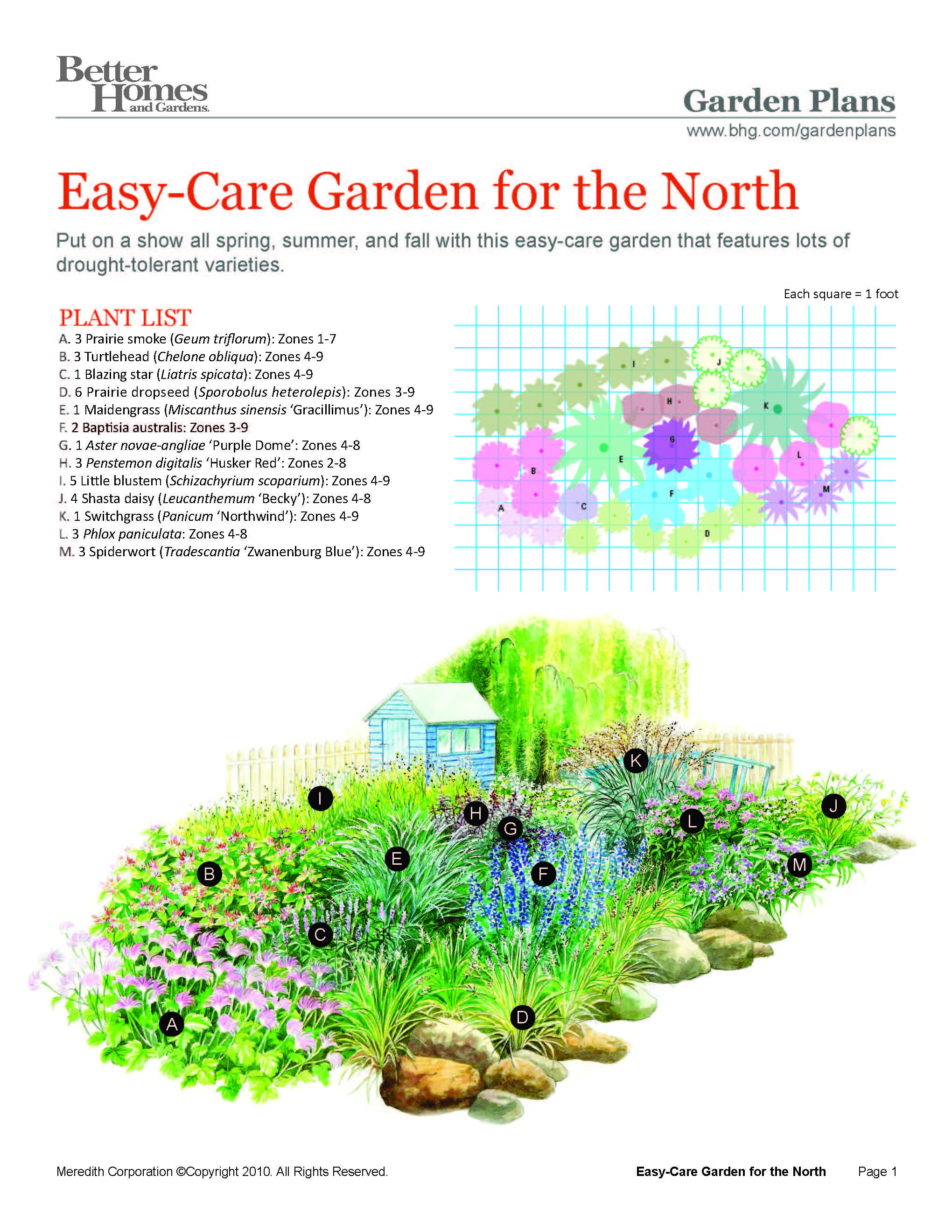Easy Care Northern Garden Plan Would Be Easy To Substitiute Plants That Do Well In Zone 3 Garden Planning Perennial Garden Plans Flower Garden Plans