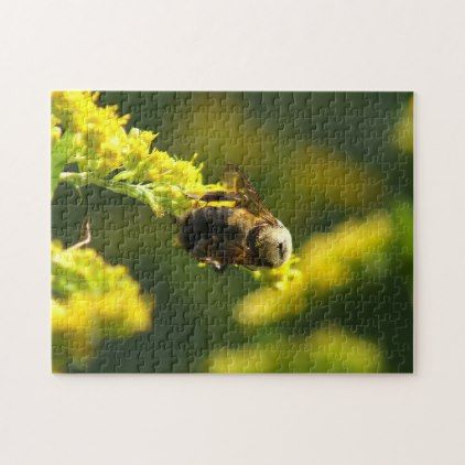 Bumble Bee Photo Puzzle Jigsaw