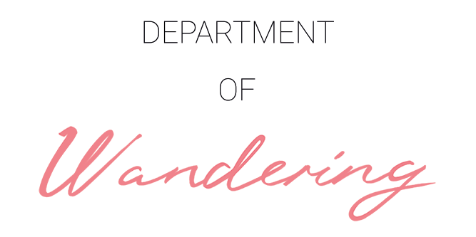 The Department of Wandering