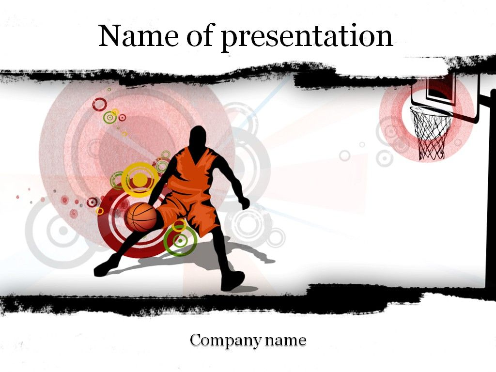 basketball players powerpoint template | templates | pinterest, Modern powerpoint